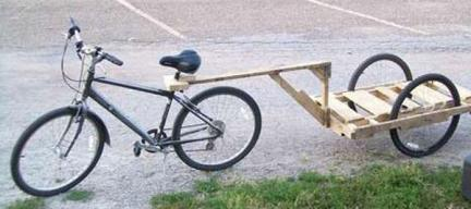 Wooden Pallet Bycycle Trailer